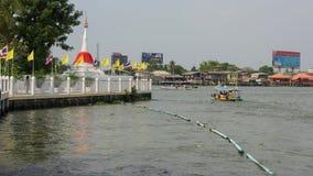 White pagoda near river at Koh Kred Stock Images