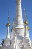 White Pagoda. Part of a white pagoda at Indein, Myanmar, Burma, Southeast Asia royalty free stock photo