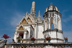 White pagoda in Phra Nakhon Khiri Historical Park Stock Photos