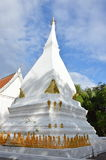 White pagoda in Phra that SI song Rak temple Thailand Stock Photography