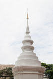 White pagoda in phra singha temple Chiang Mai Thailand Stock Images