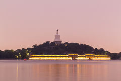 White Pagoda on Qionghua Island of Beihai Park in  Beijing Stock Photography