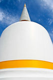 White pagoda in south Thailand. Beautiful white pagoda in south Thailand Stock Photos