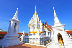 White pagoda at surat thani Royalty Free Stock Images