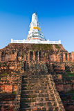 White pagoda in the temple Royalty Free Stock Photography