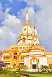 White pagoda in the temple Royalty Free Stock Photo