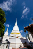 White pagoda in the temple Stock Photography