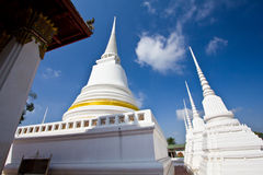 White pagoda in the temple Stock Image