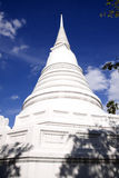 White pagoda. In the temple of Ayuttaya Thailand Stock Photography