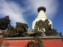 White pagoda temple Stock Photo