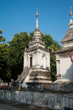 White pagoda in temple at Chiang Mai, Thailand. Stock Photography