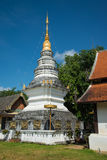 White pagoda at Temple in Chiang mai, Thailand public place Stock Image