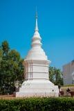 White pagoda in temple, Chiangmai Royalty Free Stock Photos
