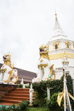 White pagoda in the temple Stock Photos