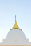 White pagoda in a temple thailand Stock Photo