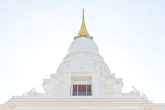 White pagoda in a temple thailand. White marble pagoda in a temple thailand Stock Images