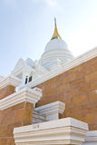 White pagoda in a temple thailand Royalty Free Stock Photo