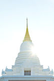White pagoda in a temple thailand Royalty Free Stock Image