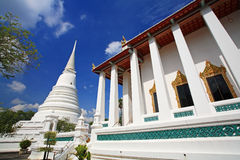 White pagoda in Thai temple Royalty Free Stock Images