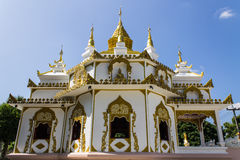 White pagoda in thai temple Stock Images