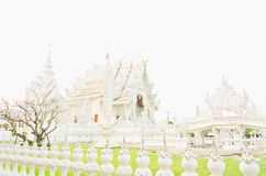 White pagoda at the Thai temple, Khonkaen. White pagoda at the Thai temple, Buddha church at the Thai temple style Stock Photography