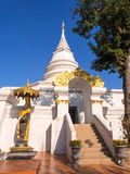 White pagoda in Thai temple Stock Image