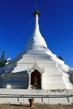 White Pagoda, Thailand. White pagoda in Mae Hong Son province, Northern of Thailand Royalty Free Stock Photos