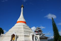 The white pagoda, Thailand Stock Photos
