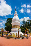 White Pagoda in Thailand Stock Image