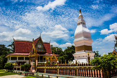White Pagoda in Thailand Stock Photos