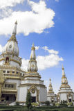 White pagoda in Thailand. Stock Photos
