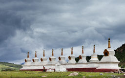 White pagoda in Tibet Royalty Free Stock Photos