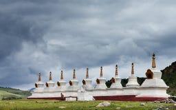 White pagoda in Tibet Royalty Free Stock Photos