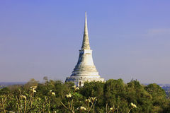 White pagoda on top of the hill Royalty Free Stock Image