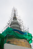 White pagoda under construction Stock Images
