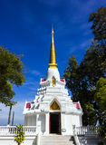 White pagoda at Wat Doi Mae Pang Royalty Free Stock Image