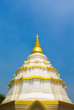 White pagoda in wat nantaram Stock Photo