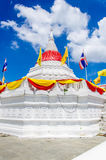 White pagoda. Pagoda  at Wat Paramaiyikawat in Koh Kred ,Nonthaburi Thailand Royalty Free Stock Photography