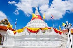 White pagoda. Pagoda  at Wat Paramaiyikawat in Koh Kred ,Nonthaburi Thailand Stock Photography