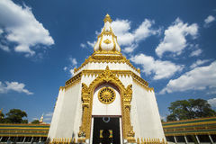 White Pagoda. In wat of thailand Royalty Free Stock Photography