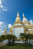 White Pagoda. In wat of thailand Stock Photo