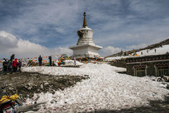 White Pagoda in zheduo mountain , sichuan,china Stock Photos
