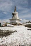 White Pagoda in zheduo mountain , sichuan,china Royalty Free Stock Photos