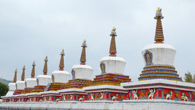 White Pagodas Stock Photo