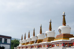 White Pagodas Stock Images