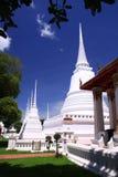 White pagodas at Ayuttaya Thailand Stock Photography
