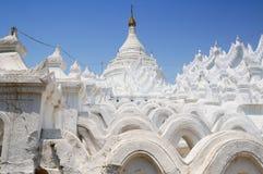 White pagodas at Myanmar Royalty Free Stock Photo