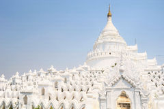 White Pagodas at Myanmar Stock Image
