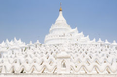 White Pagodas at Myanmar Royalty Free Stock Photos