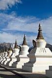 White pagodas Tibet Stock Image